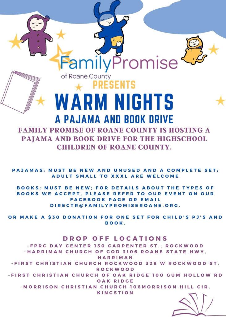 Warm Nights - A Pajama and Book Drive